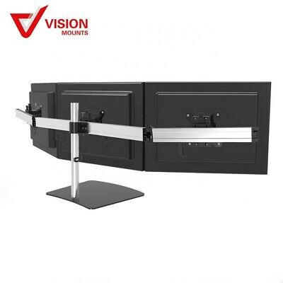 "Triple Monitor Desk Mount up to 27"" 8kg ea Vision Mounts VM-MP230SL"
