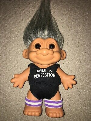 Vintage Aged To Perfection Grandma Large Russ Troll Doll