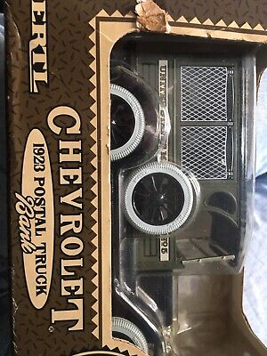 Vintage 1923 Chevrolet Postal truck Coin Bank Sealed In Original Packaging!