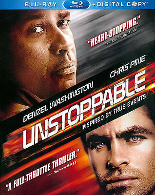 Unstoppable (Blu-ray Disc, 2011, 2-Disc Set, Includes Digital Copy) New