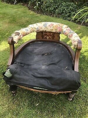 Antique victorian tub chair style low easy bedroom nursing armchair