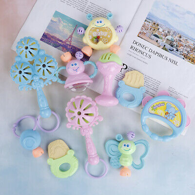 1Pcs Hand jingle shaking bell rattles toys newborn teether accessories YALh