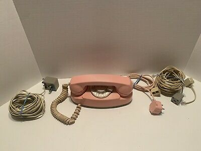 Vintage Western Electric Pink Princess rotary phone Tested And Works!!!