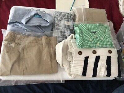 Boy's 5 5T 6 Mixed Lot Chambray Janie and Jack Polo RL Knit Chinos Sweater Shirt