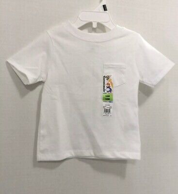 Garanimals Boys Short Sleeve With Pocket White Tee Shirt Size 18 Months
