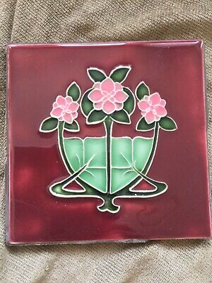 Beautiful Art Nouveau Antique  Reproduction Tile