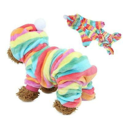 Flannel Dog Jumpsuit Winter Dog Clothes Small Puppy Coat Pets Outfits Hoodie