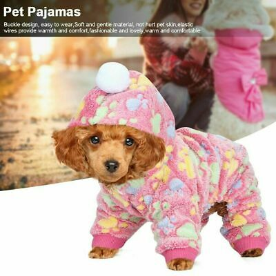 Flannel Dog Cat Jumpsuit Winter Dog Clothes Puppy Coat Pets Outfits Hoodie