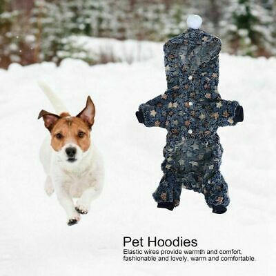 Soft Flannel Dog Cat Jumpsuit Winter Dog Clothes Puppy Coat Pets Outfits Hoodie