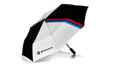 BMW Genuine M Motorsport Pocket Umbrella Black White 97cm Diameter 80282461136