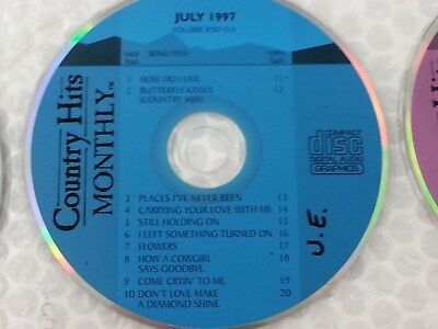 Country Hits Monthly Karaoke Disc 9707-C-2 CD+G CDG