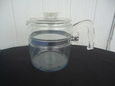 vintage retro pyrex 4 cup glass kettle coffee percolator  pot only