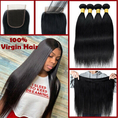8 30inch 4bundles Or With Closure Unprocessed Brazilian Virgin Human Hair Thick 11 12 Picclick