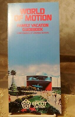 Vintage Disney Epcot World Of Motion Family Vacation Guidebook by GM 1985 Ed.