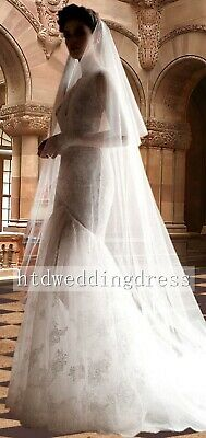 New 3 Meters Cathedral White Ivory 2 Tiers Tulle Bridal Wedding Veil With Comb