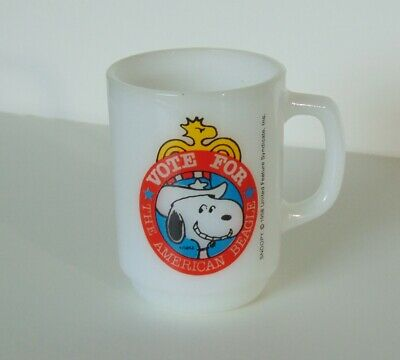 Vintage Snoopy for President Mug 1980 Collectors Series No 2 Anchor Hocking