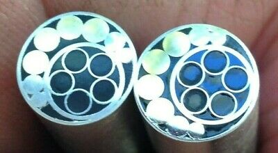 """Mosaic Knife pins x 2. 3/8"""" Diameter. Stainless and Brass Nice, see pics"""
