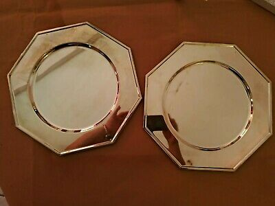 Couple Summerday Octogone Vintage Silver Plated Marco Rivadossi cm 30