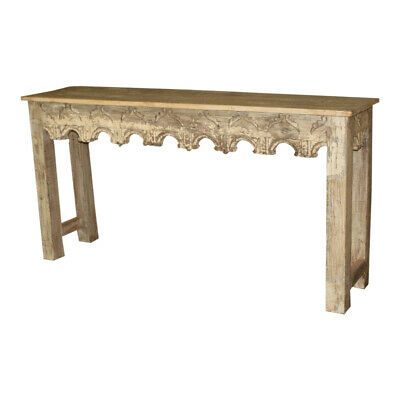 Antique Indian Slim Wooden Console
