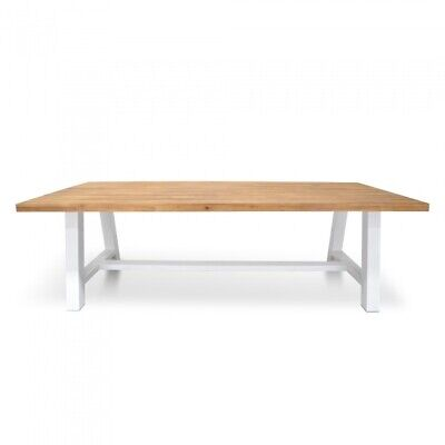 Outdoor 2.5m Dining Table With White Base