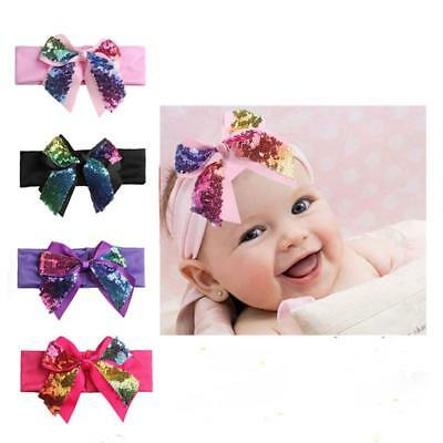Cute Rabbit Bow Knot Turban Headband Baby Toddler Girls Kid Hair Band Headwrap T