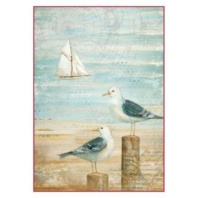 Rice Paper - Decoupage - Stamperia - 1 x A4 Size Sheet - Seagulls