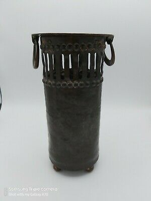 Arts And Crafts Copper Planished Bottle Cooler/Holder