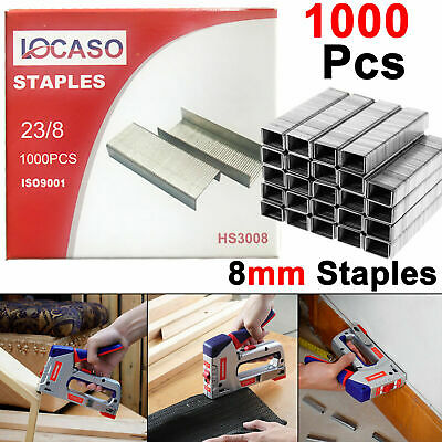Heavy Duty 8mm 1000pc Pcs Staples Staple Gun Tacker Pack Upholstery For Stapler