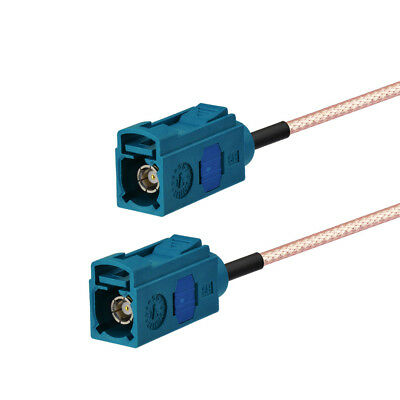 """Fakra """"Z"""" Jack to jack female extension cable RG316 3.5M for WiFi Neutral Coding"""