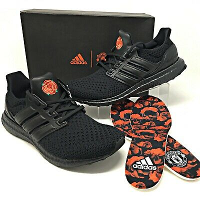 """Adidas Manchester United Ultraboost Clima """"Rose"""" Mens Shoes Black/Red EG8088 NEW"""