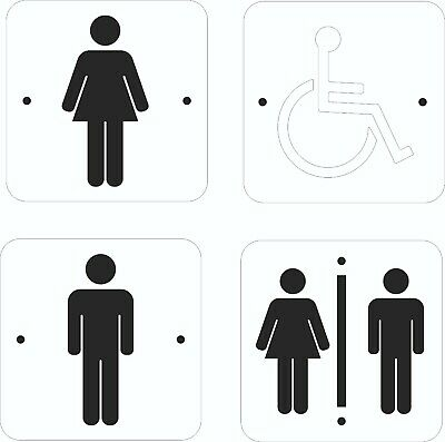 Toilet Sign Acrylic Frosted Black White Sign Male Female Disabled Gents Ladies