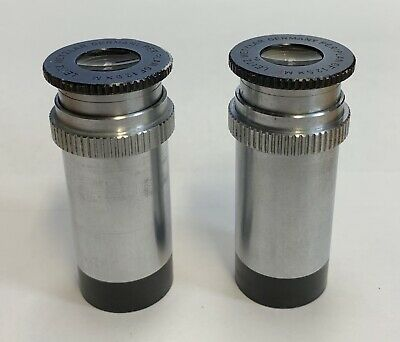 A Pair Of Leitz GF 12.5X M & MF Microscope Eyepieces 23mm Adjustable