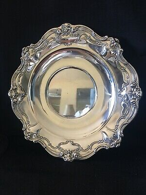 "Gorham Sterling ""Chantilly"" 10 1/2"" Plate #746 Dated 1949"