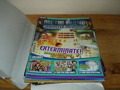 Approx 20 Doctor Who Monster Invasion Magazines