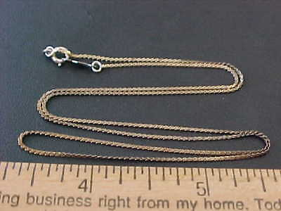 """Estate Vintage New Old Stock  18"""" SSS  Chain Gold Over Sterling Silver"""
