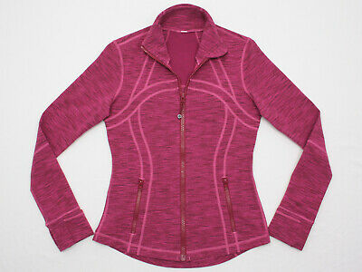 Womens Lululemon Define Full Zip Track Yoga Jacket Heathered Pink Sz 6 NU COND