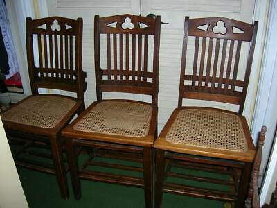 Antique Gothic Oak Globe Wernicke Chairs LOCAL PICKUP ONLY