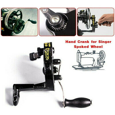 Hand Cranked Spoked Wheel Treadle Sewing Machine 15 127128 66 99 Attachment Tool