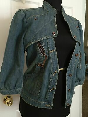 NEW APPLE BOTTOMS by Nelly Jeans Jacket Urban Distressed With Tags Medium