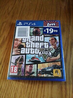 Grand Theft Auto V (PS4) - GTA 5 Five - New and Sealed