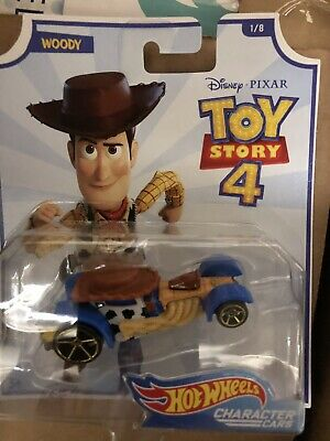 2019 Hot Wheels TOY STORY 4 Character Car COWBOY WOODY *Disney*Pixar*