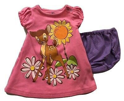Disney Store Bambi 0-3 Month 2 Piece Baby Girl Outfit