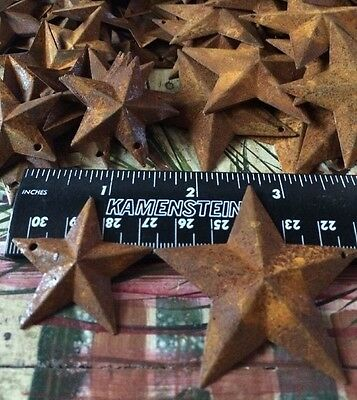 """50 TOTAL Rusty Barn Stars (25) 1.5"""" 38mm & (25) 2.25"""" 57mm Country Rust Craft"""