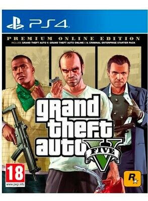 TAKE TWO Videogioco PS4 GTA 5 Premium Online Edition 18+ SWP40674