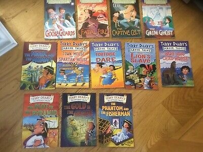 Roman, Greek And Egyptian Tales, Bundle Of 12 Books. Terry Deary.  Read Once.