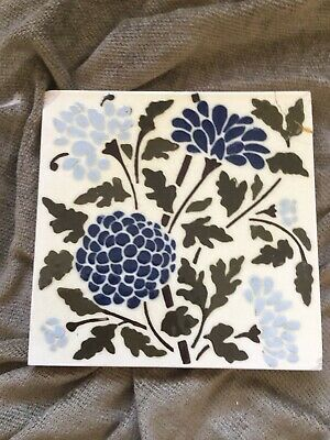 Beautiful Antique Victorian Arts and Crafts Tile Wedgewood c 1885
