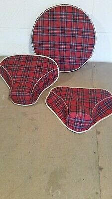 Lambretta tartan saddle covers and spare wheel cover set .