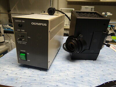 Olympus Microscope HBO Light U-ULS100HG with Controller BH2-RFL-T3, TESTED