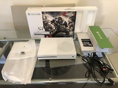 Microsoft Xbox One S Gears of War 4 Bundle 1tb White Console (no game)