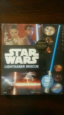Star Wars The Force Awakens Lightsaber Rescue Book Play and Sound Lights Up!!!